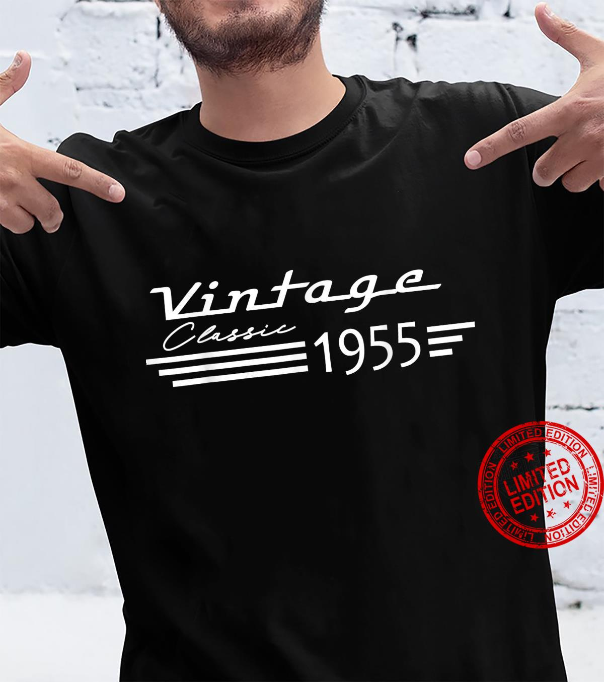 66th Birthday Vintage Classic 1955 Style Born In 1955 Year Shirt