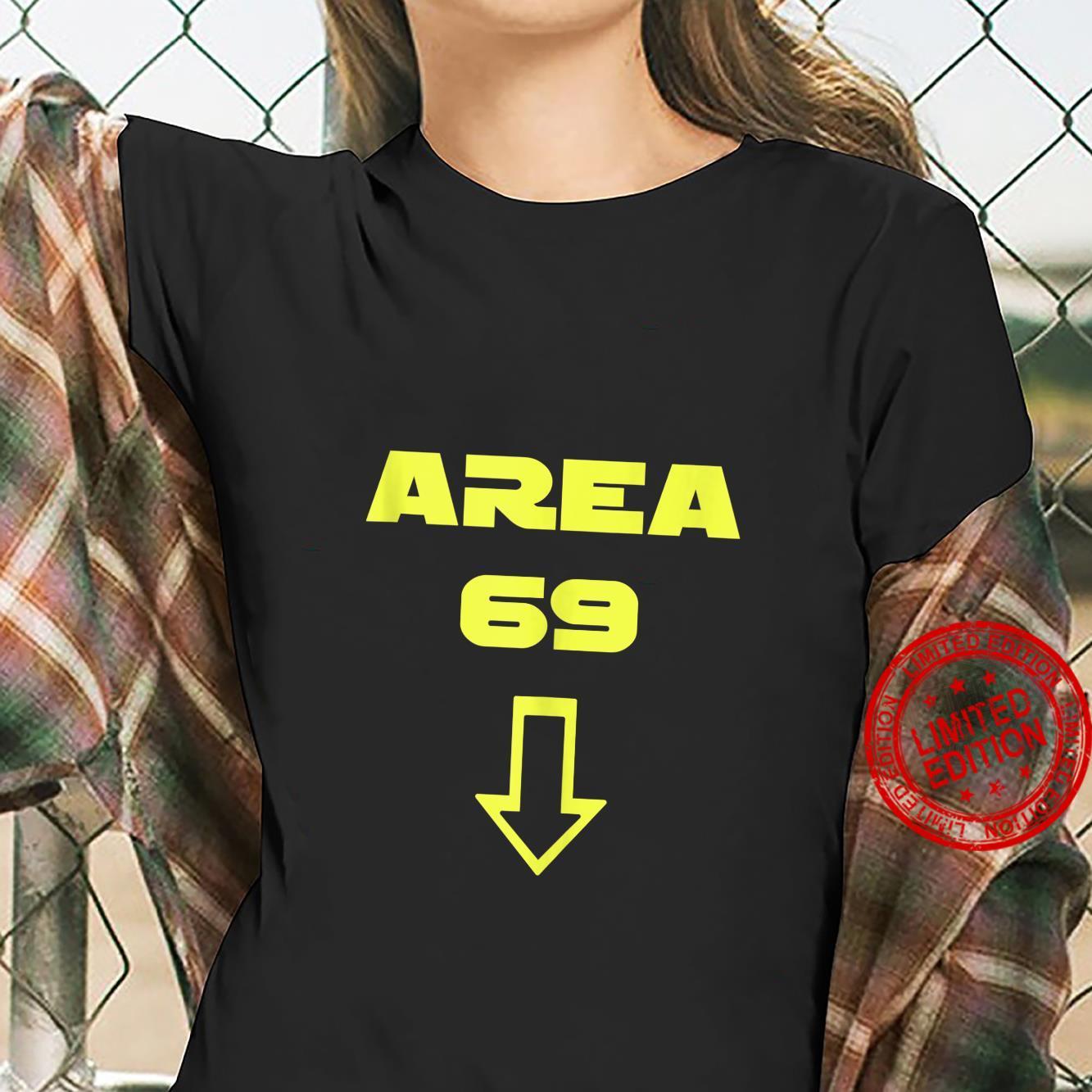 AREA 69 Futuristic Font Meme Shirt ladies tee
