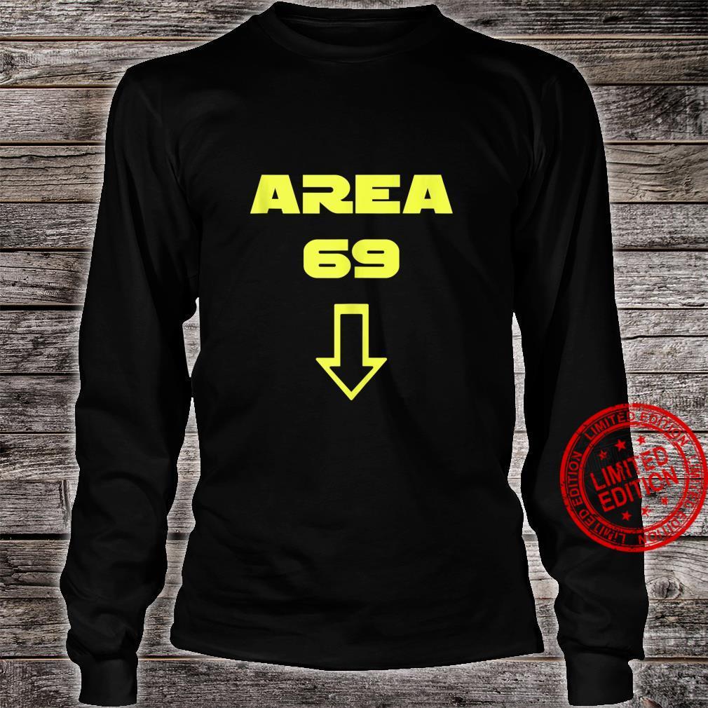 AREA 69 Futuristic Font Meme Shirt long sleeved