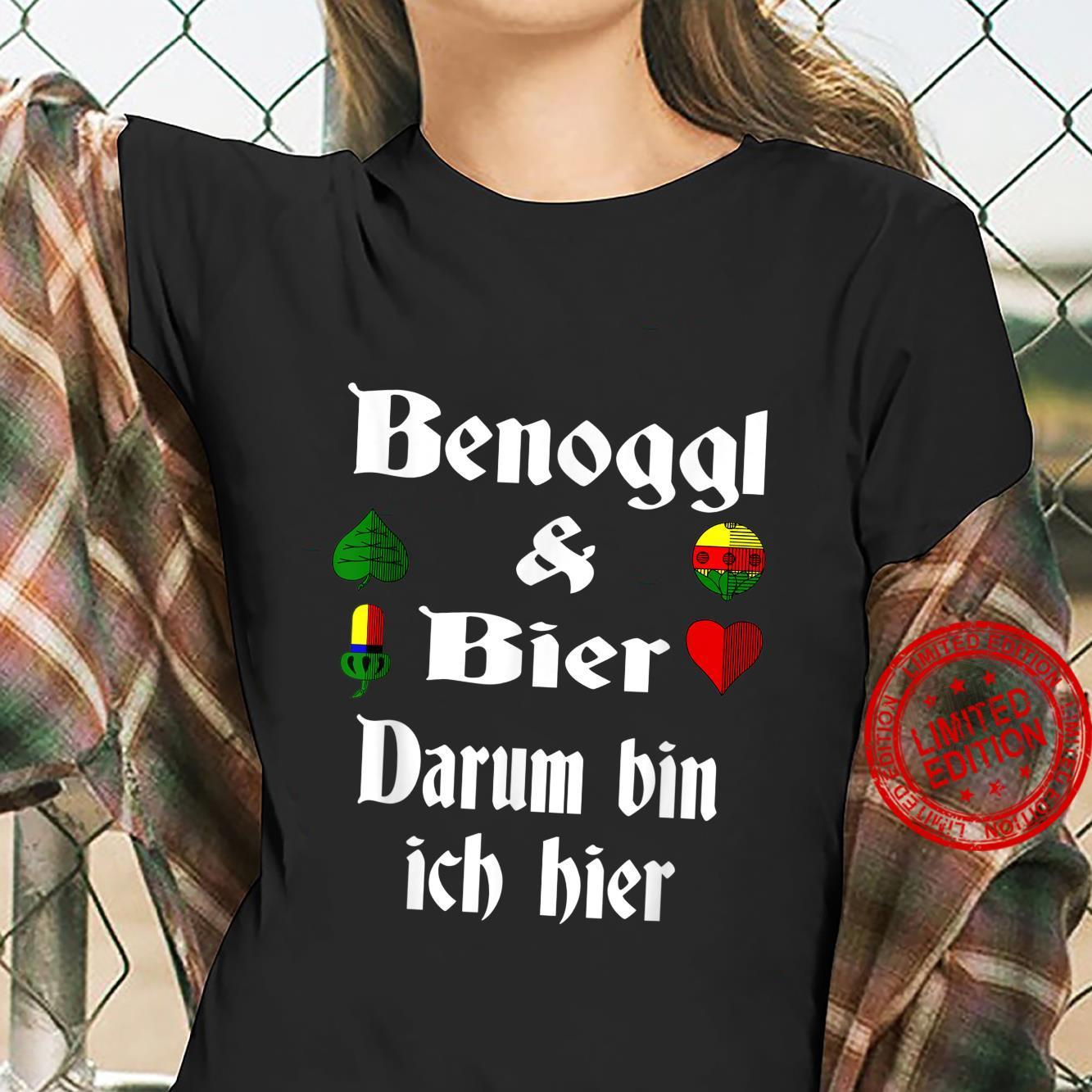 Binokel Binokelspieler schwäbisch Schwabe Bier Benoggl Shirt ladies tee