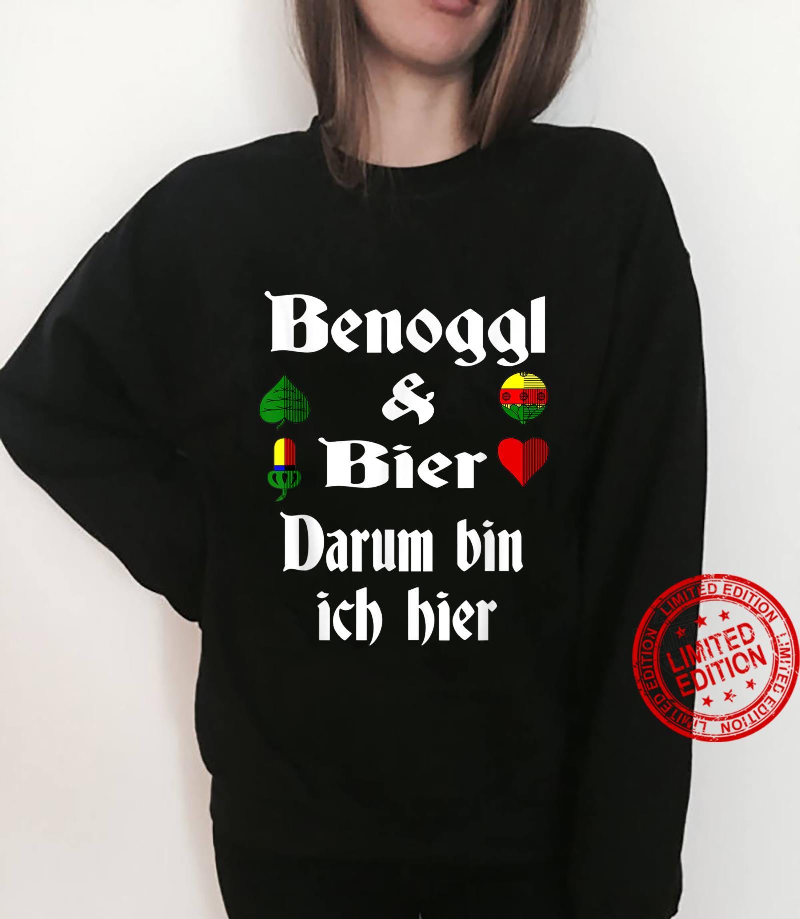 Binokel Binokelspieler schwäbisch Schwabe Bier Benoggl Shirt sweater