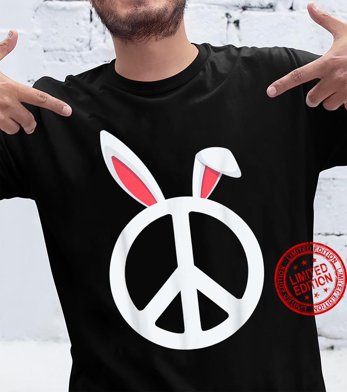 Bunny peace sign easter,, boys, and girls Shirt