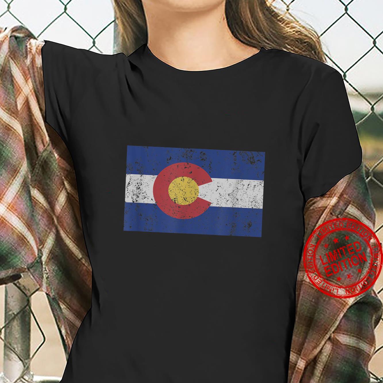 Colorado State Flag Denver Rocky Mountain Coloradan Shirt ladies tee