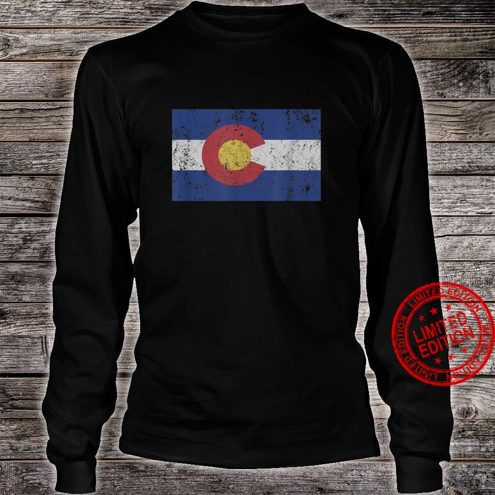 Colorado State Flag Denver Rocky Mountain Coloradan Shirt long sleeved