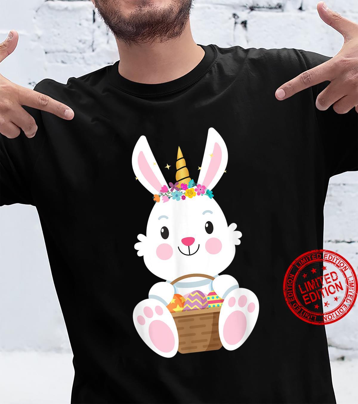 Cute Unicorn Easter Eggs Rabbit Bunny Costume for Girls Shirt
