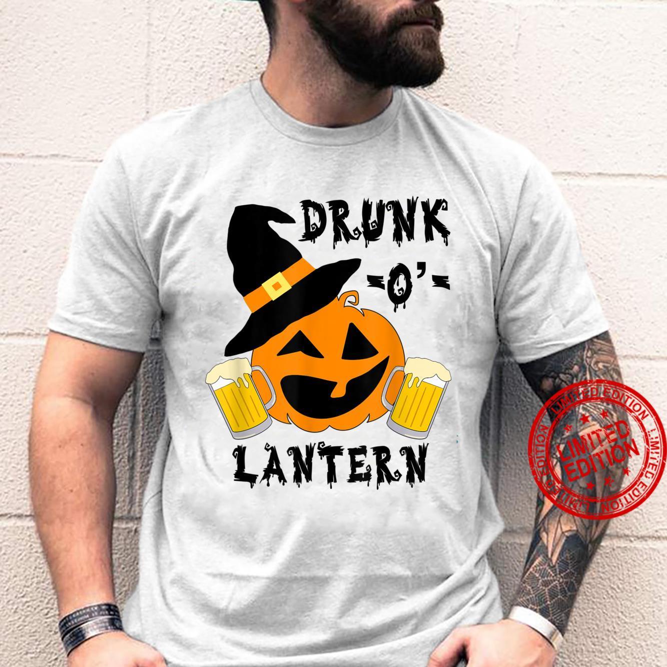 Drunk pumpkin face drinking halloween pumpkin costume Shirt