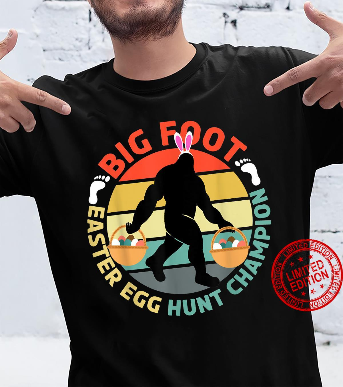 Easter Bigfoot Easter Bunny Egg Hunt Champion Shirt