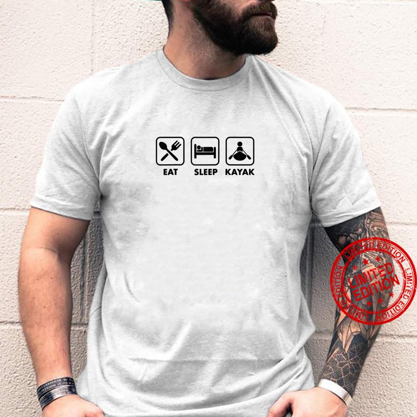 Eat Sleep Kayak Simple Cute Icon Whitewater River Shirt
