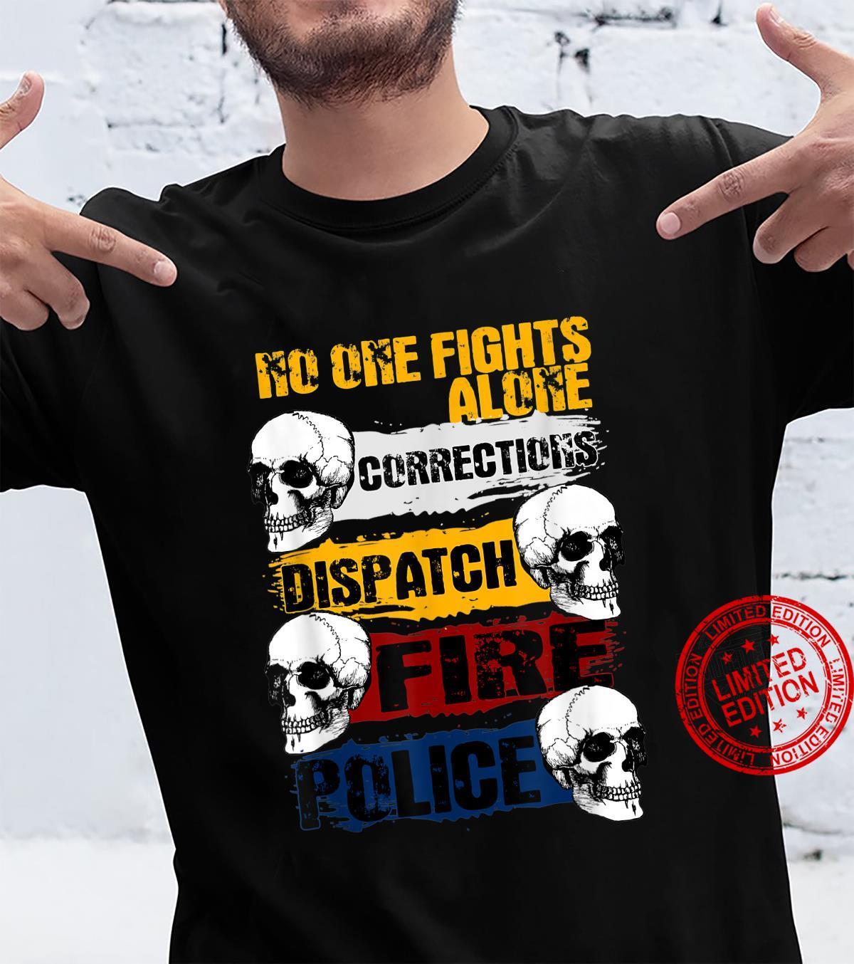 Ersthelfer Thin Line Heroes amerikanische Flagge Shirt