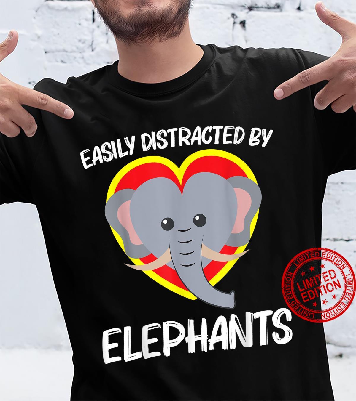 Funny Elephant Largest Circus Zoo Animal Heart Shirt