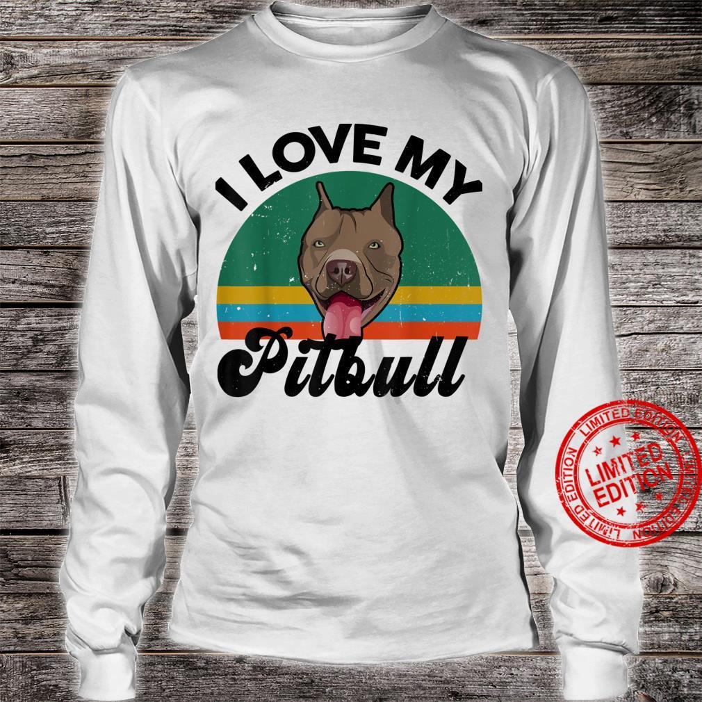 Funny I Love My Pitbull for Pittie Dog Mom Dad Shirt long sleeved