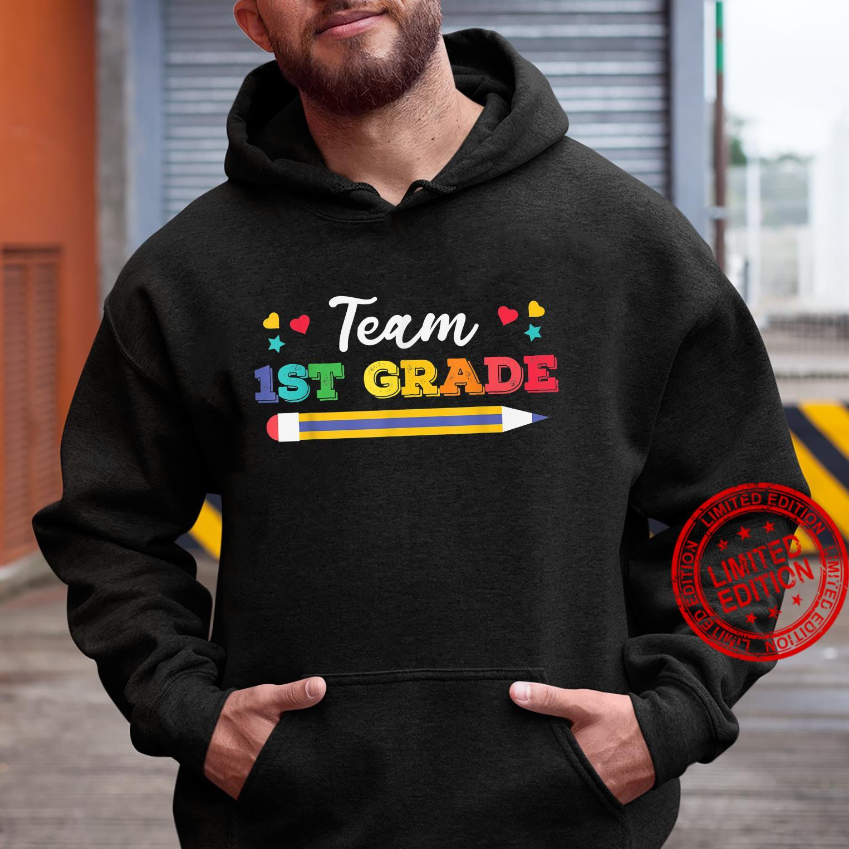 Funy Cute Pencil Team 1st Grade Shirt hoodie