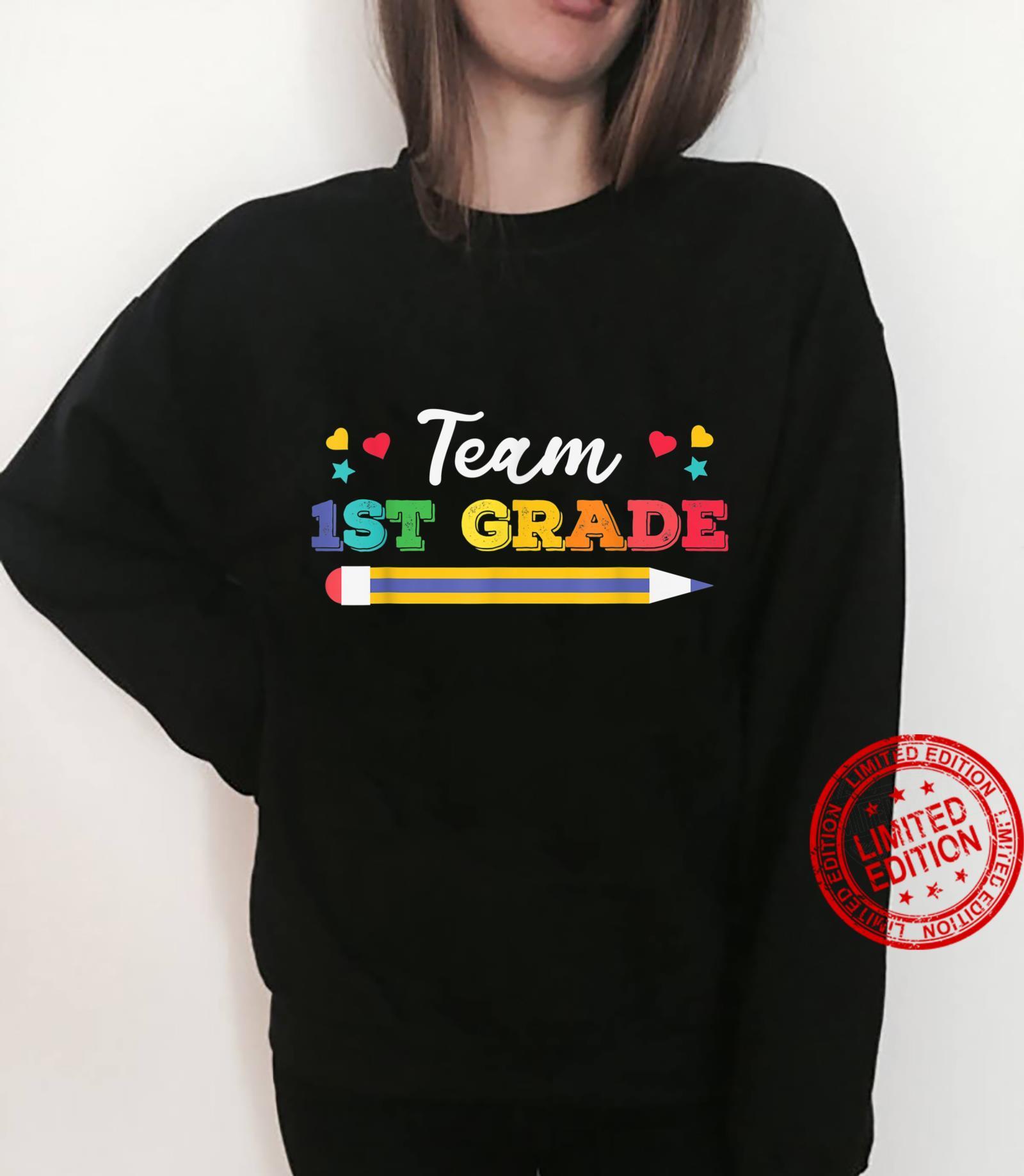 Funy Cute Pencil Team 1st Grade Shirt sweater
