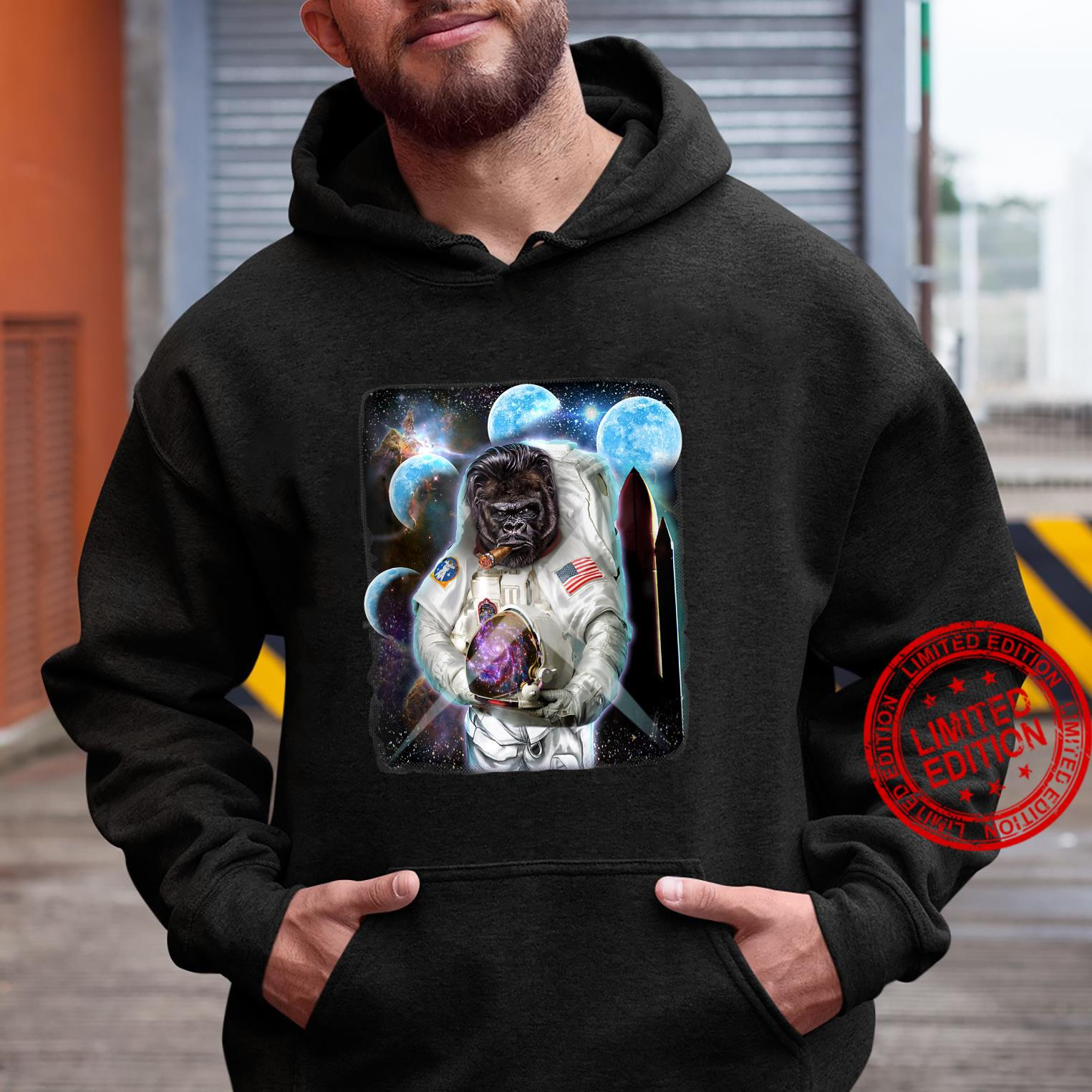Gorilla as Astronaut Explore Space and Galaxy Shirt hoodie