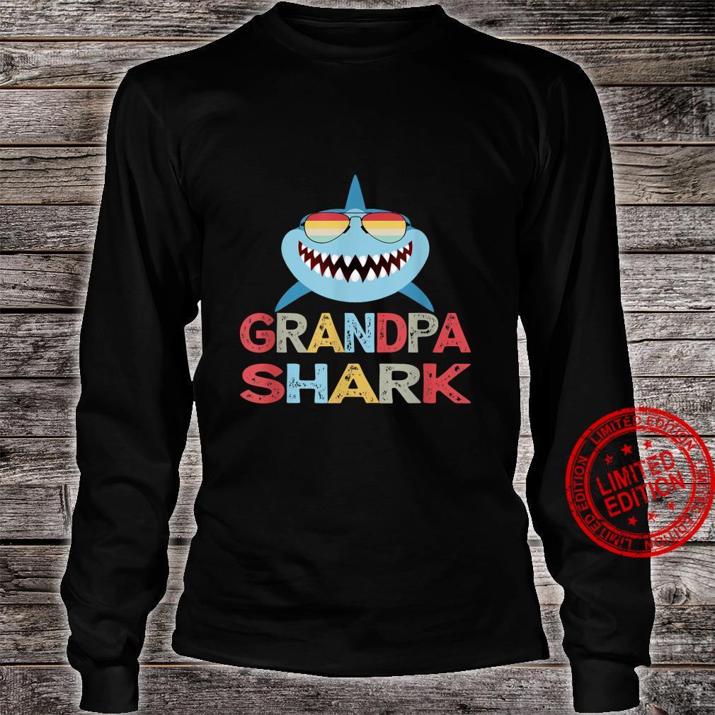 Grandpa Shark present for Granddad from Grandkids Shirt long sleeved