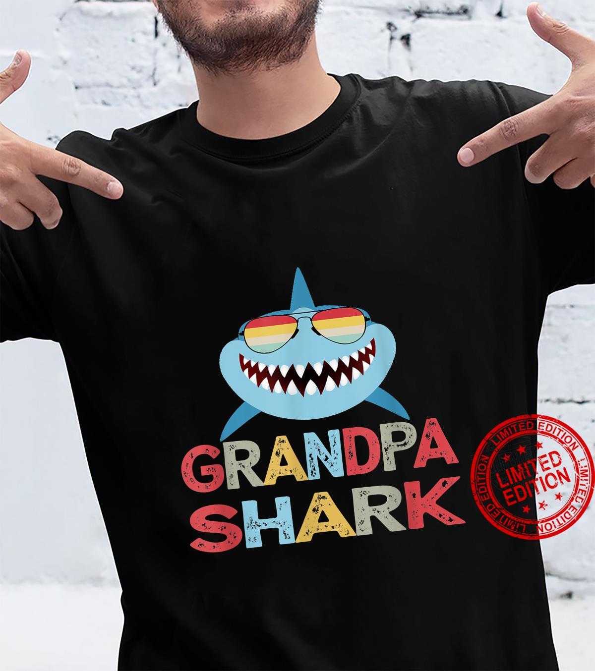 Grandpa Shark present for Granddad from Grandkids Shirt