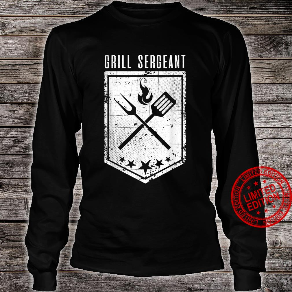 Grill Sergeant Grilling Smoking Meat Brisket Dad BBQ Shirt long sleeved
