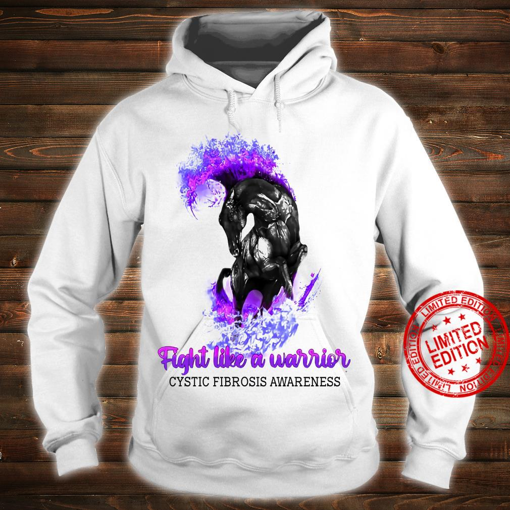 Horse Fight Like A Warrior Cystic Fibrosis Awareness Shirt hoodie