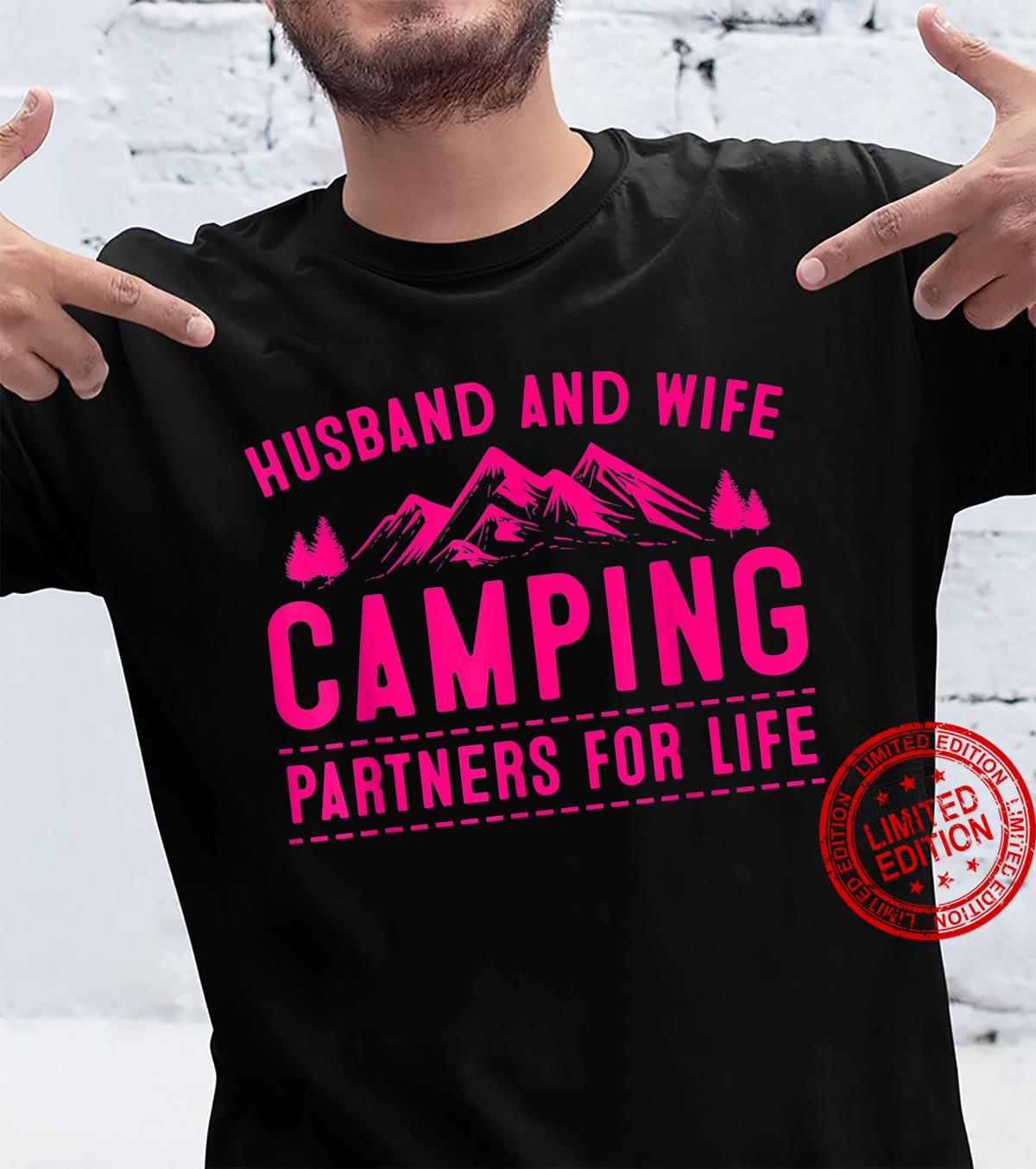Husband And Wife Camping Partners For Life Camper Shirt
