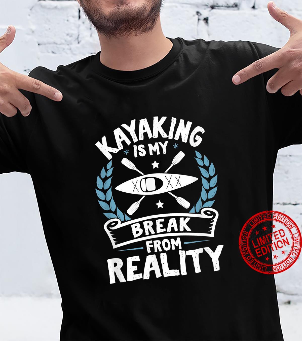 Kajak Fahren Pause Realität Coole Tolle Kanut Kanu Comic Shirt
