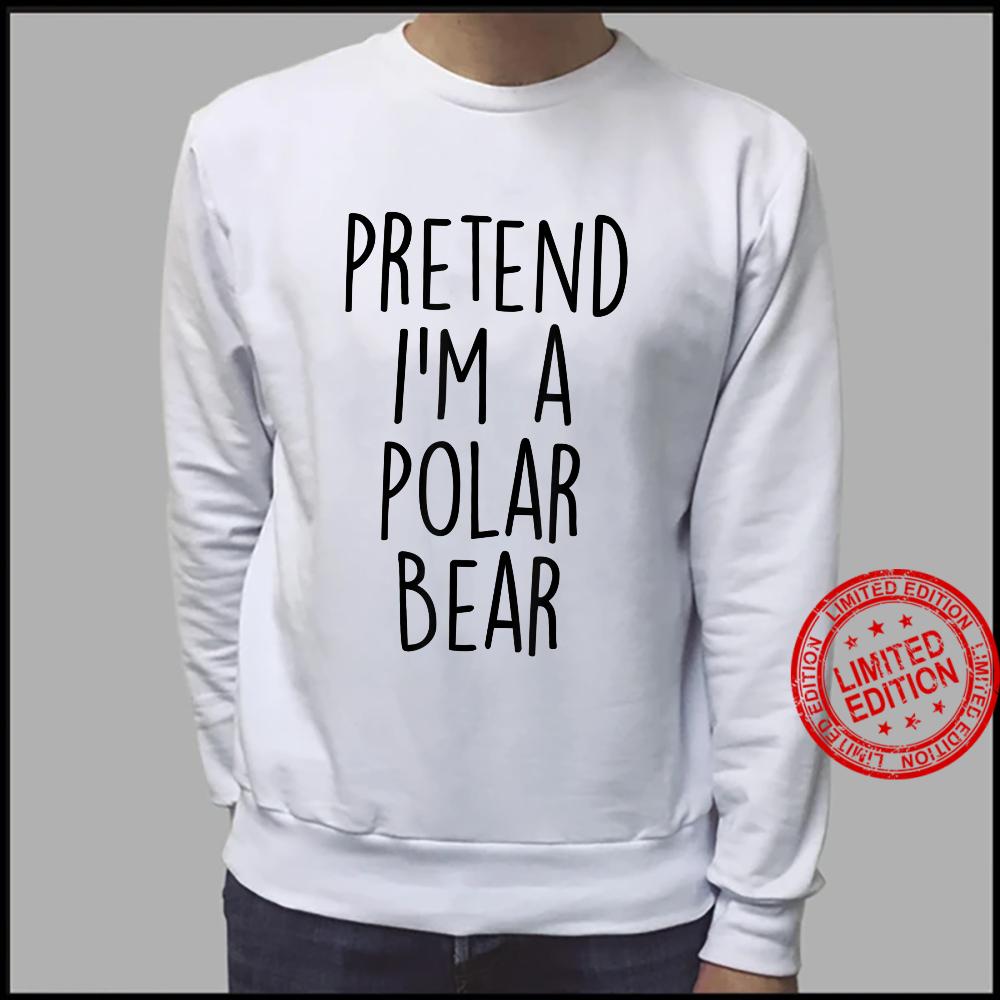 Lazy Halloween Costume Shirt Polar Bear Costume Shirt sweater