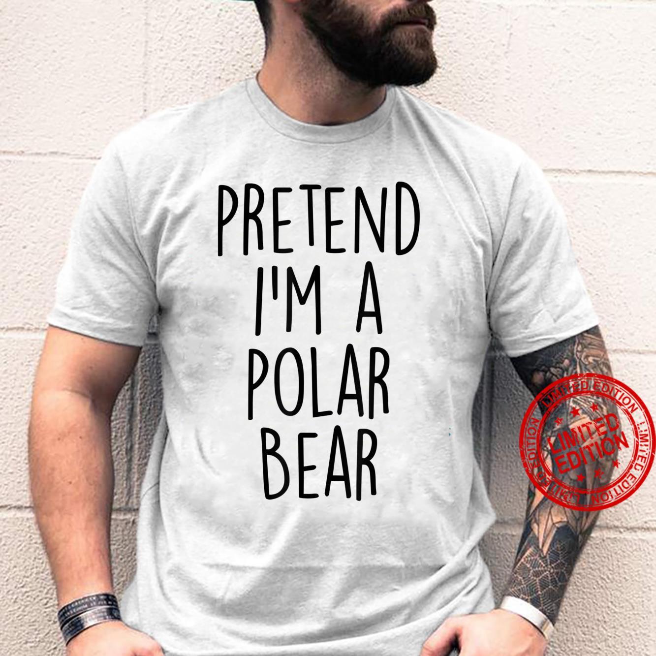 Lazy Halloween Costume Shirt Polar Bear Costume Shirt