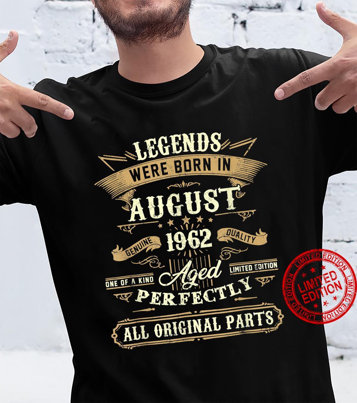 Legends Were Born In August 1962 59Th Birthday Shirt