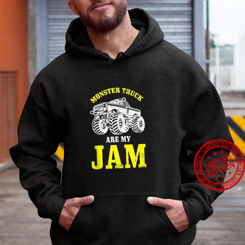 Monster Trucks Are My Jam Monster Truck Distressed Design Shirt hoodie