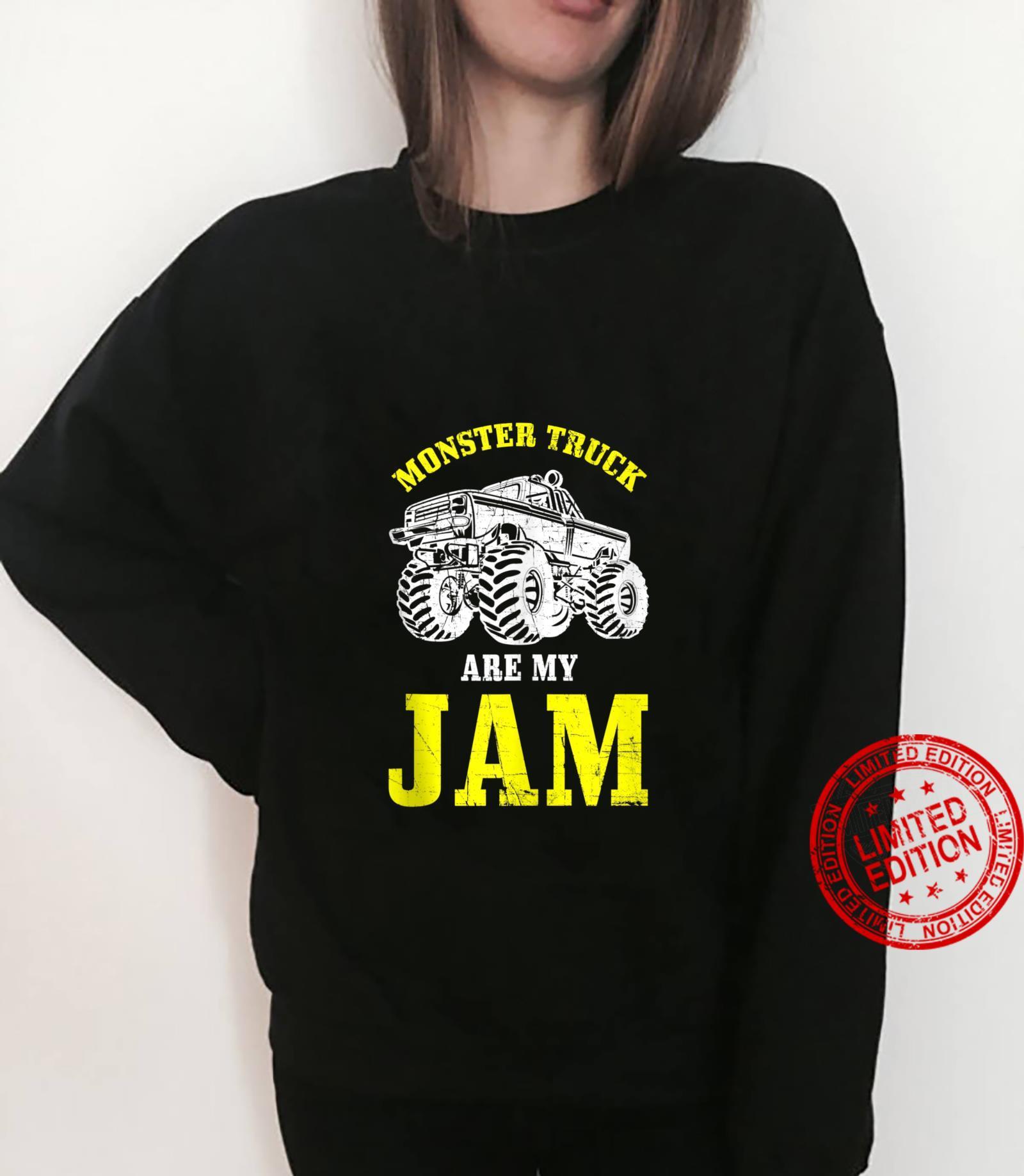 Monster Trucks Are My Jam Monster Truck Distressed Design Shirt sweater