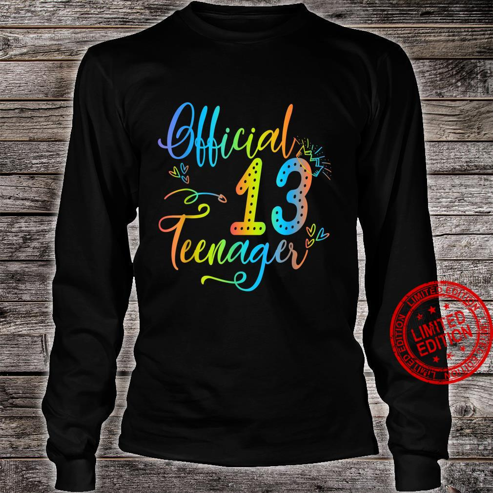 Officialnager 13 Years Old 13th Birthday Girl Boy Shirt long sleeved