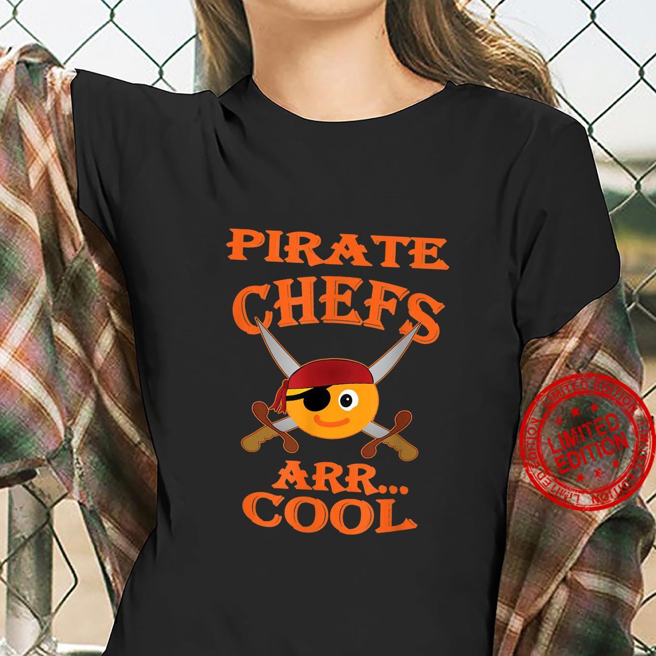 Pirate Chefs ARR Cool Halloween Orange Shirt ladies tee