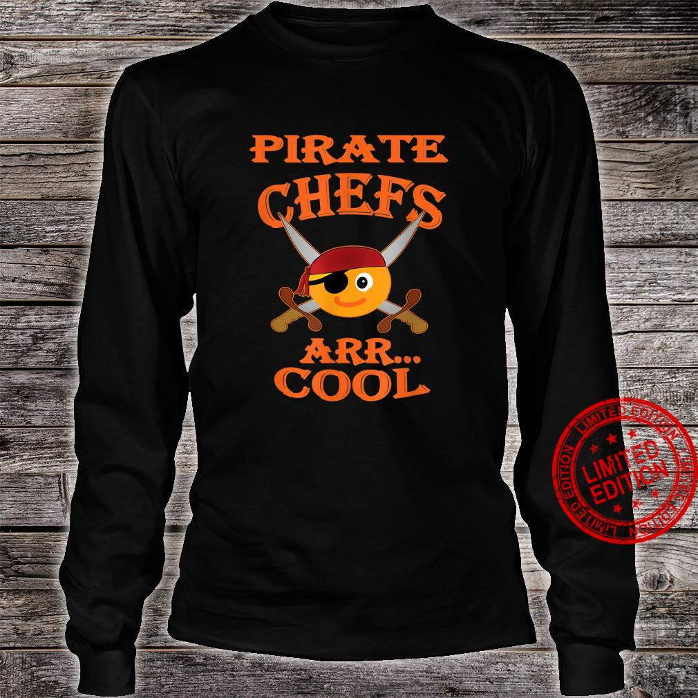 Pirate Chefs ARR Cool Halloween Orange Shirt long sleeved