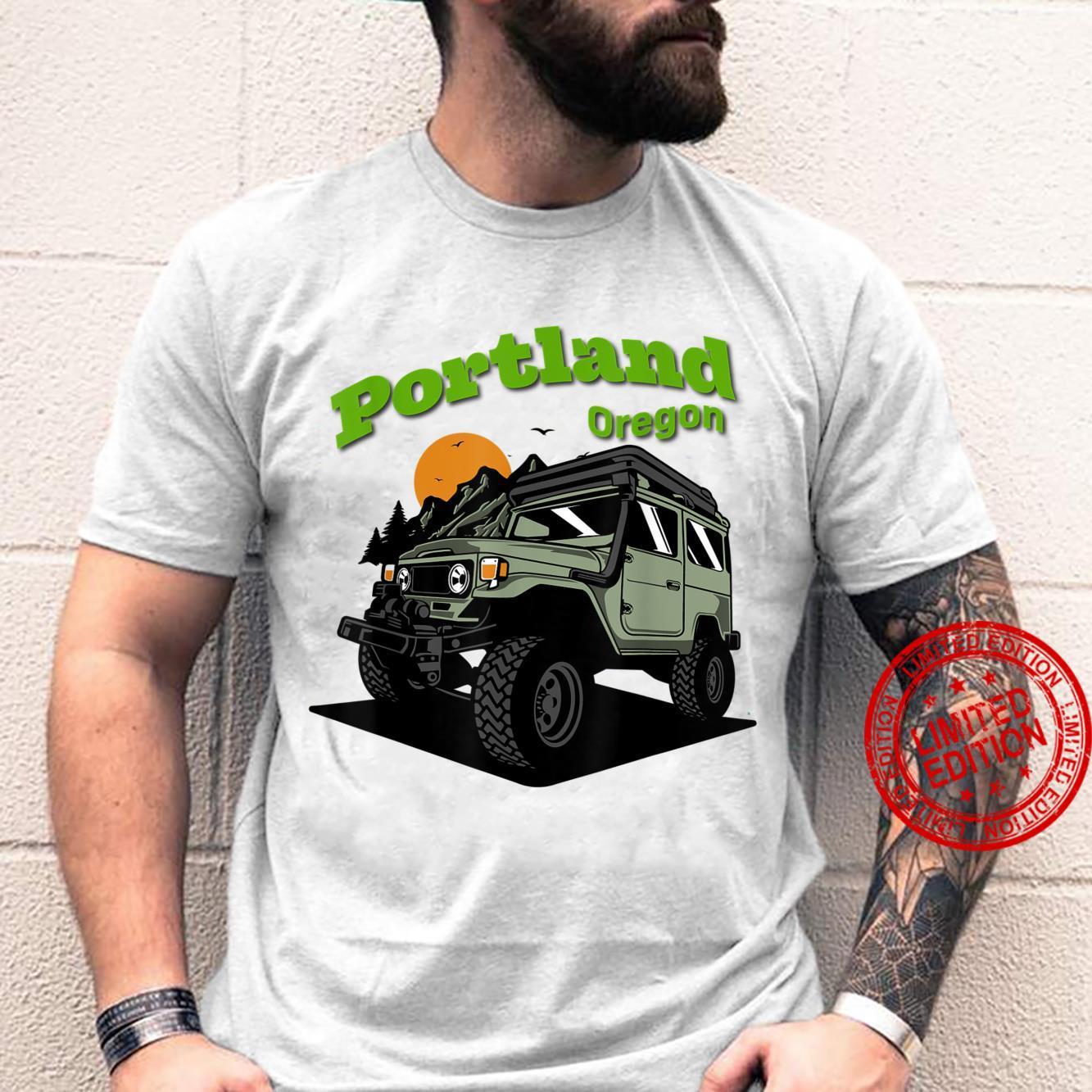 Portland Oregon 4x4 Off Road Camping Shirt