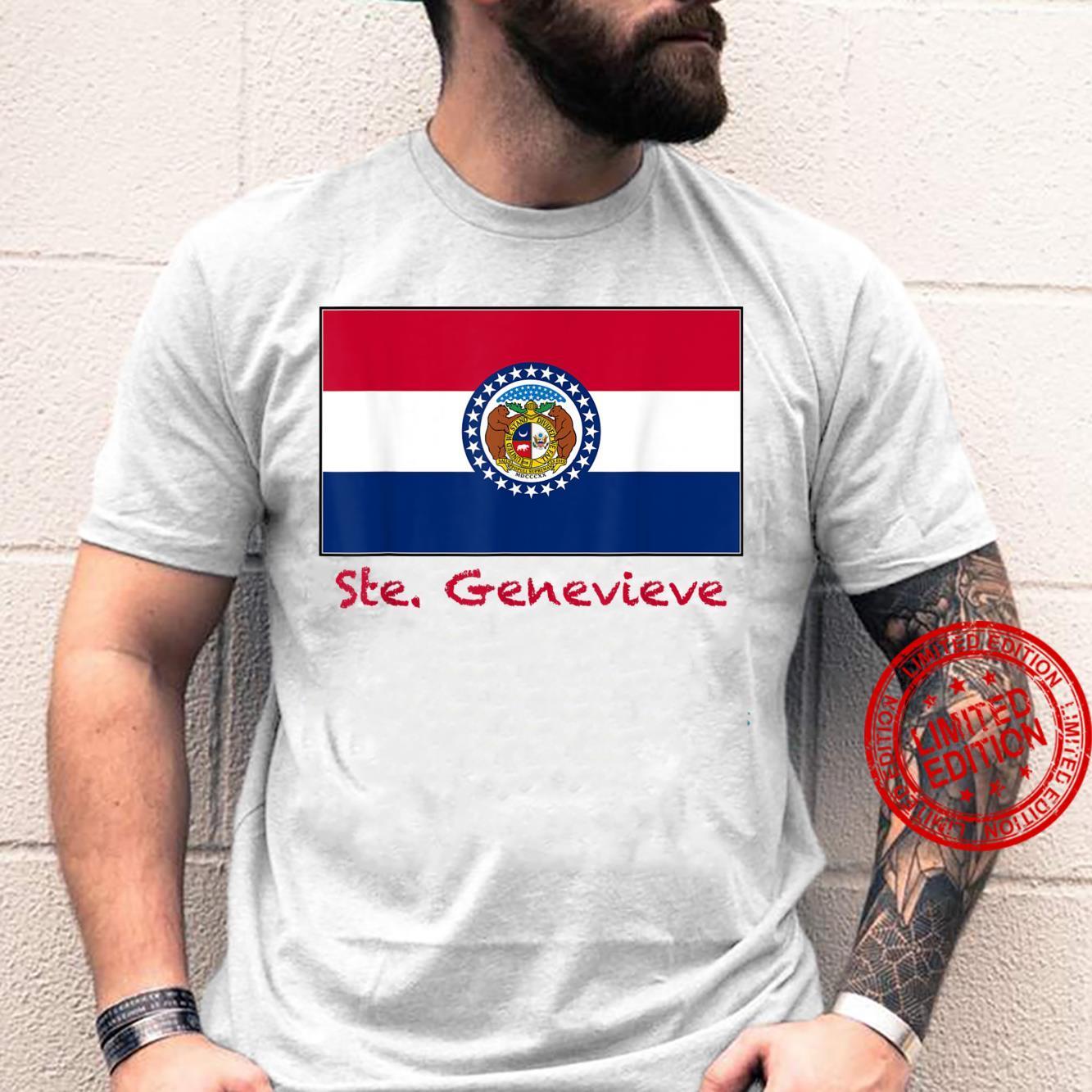 Ste Genevieve Missouri USA Flag Souvenir Shirt