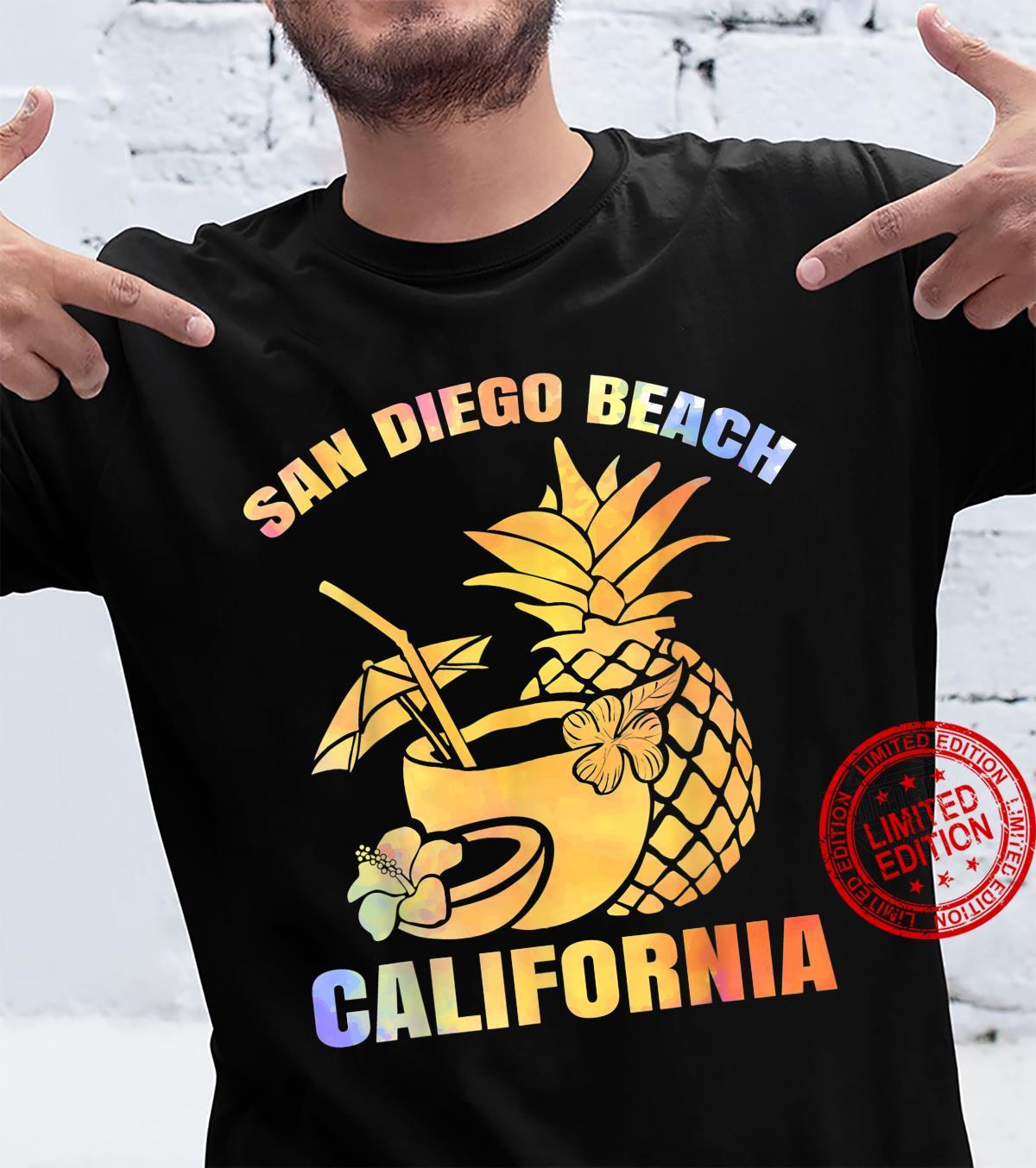 Summer Vacation Retro Sunset California San Diego Beach Shirt