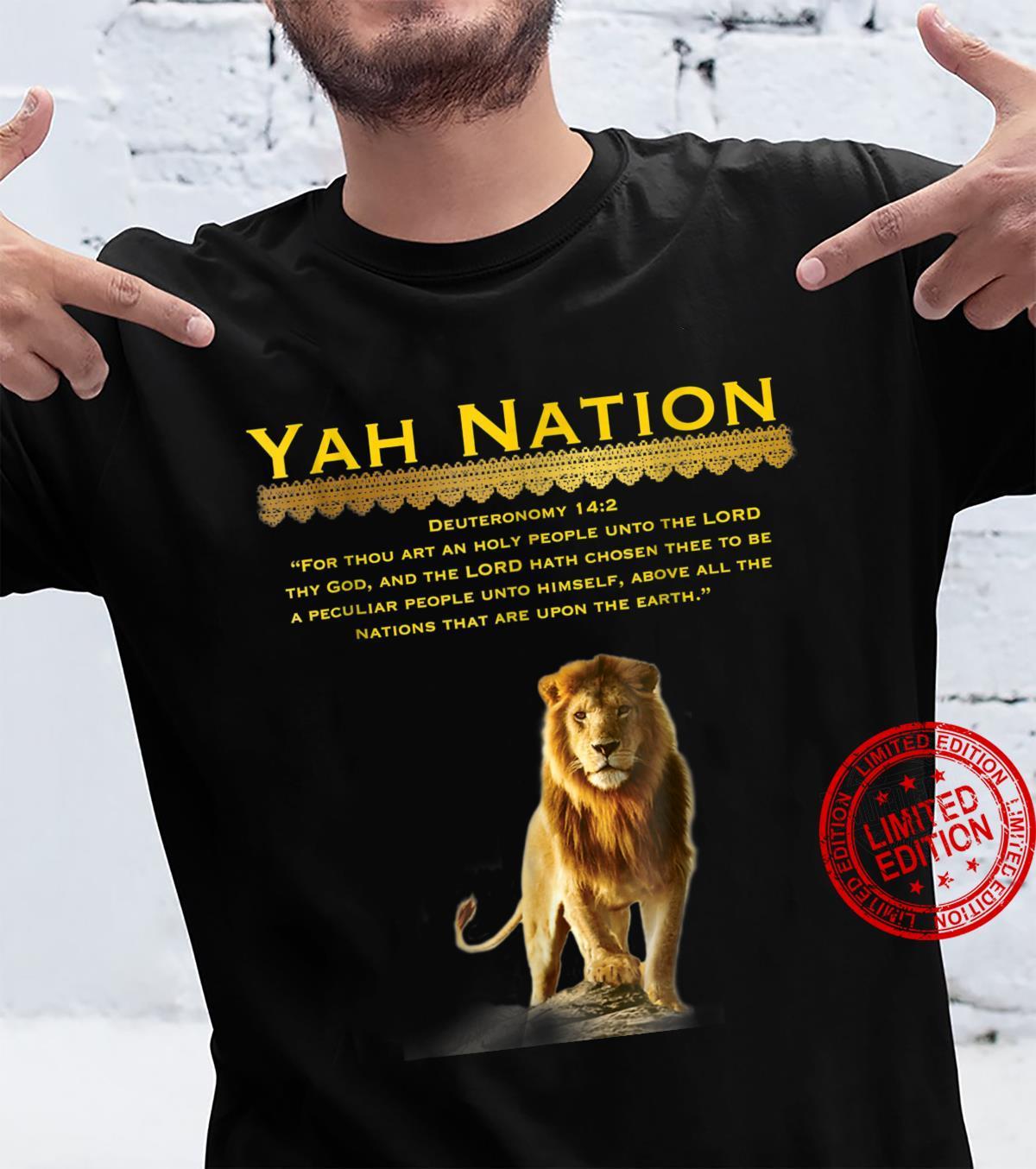 TRUTHFULL GARMENTS Yah Nation God Chosen Bible Shirt