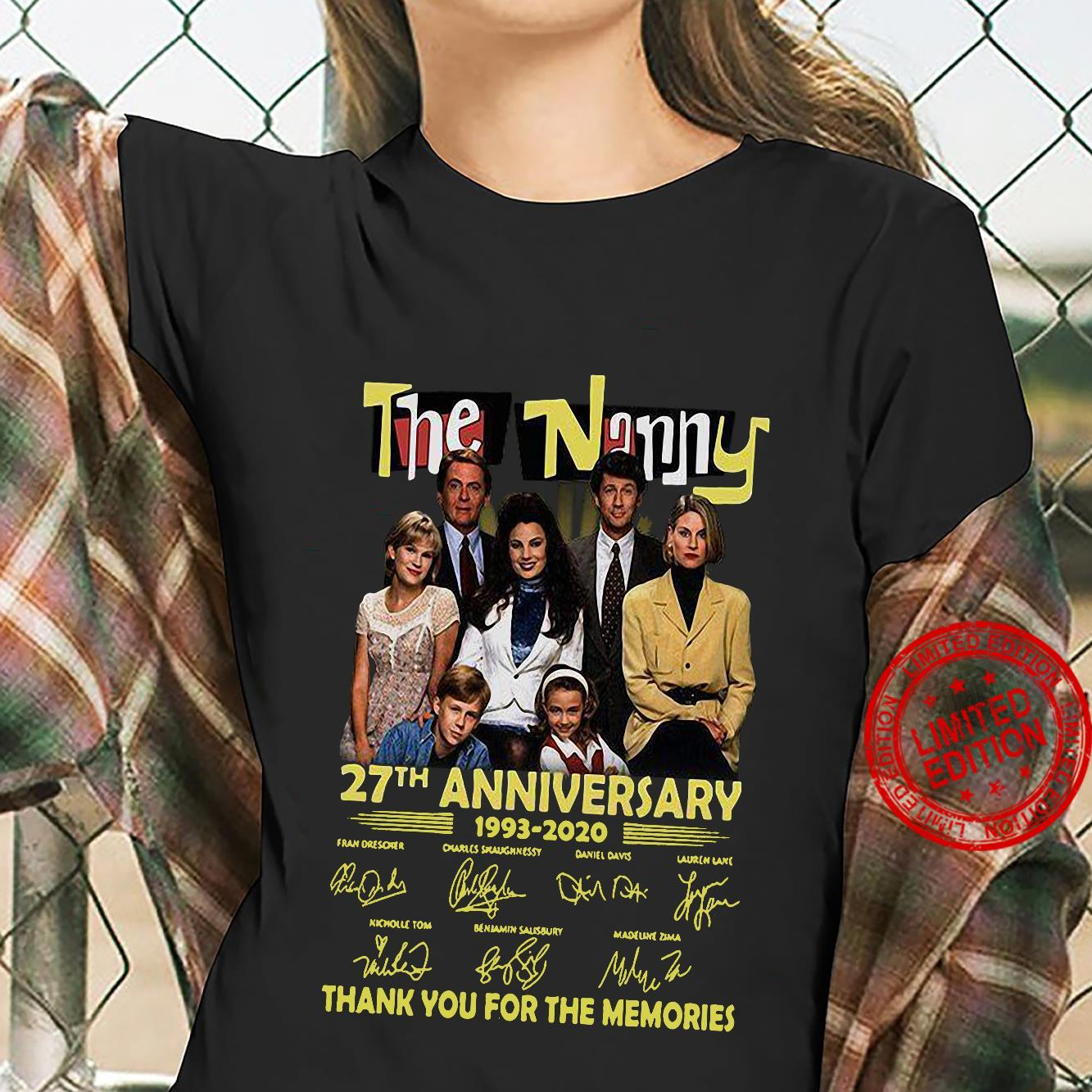 The Nanny 27th Anniversary 1993-2020 Thank You For The Memories Shirt ladies tee
