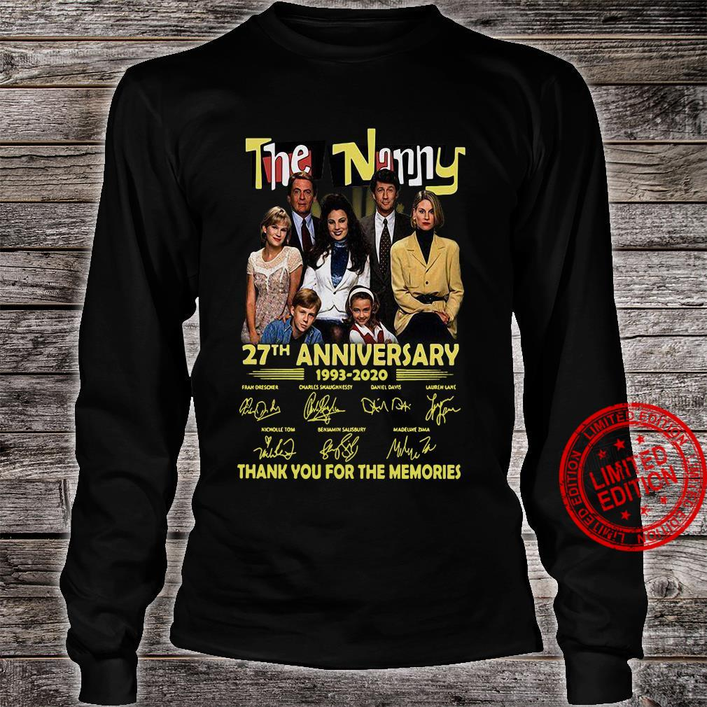 The Nanny 27th Anniversary 1993-2020 Thank You For The Memories Shirt long sleeved