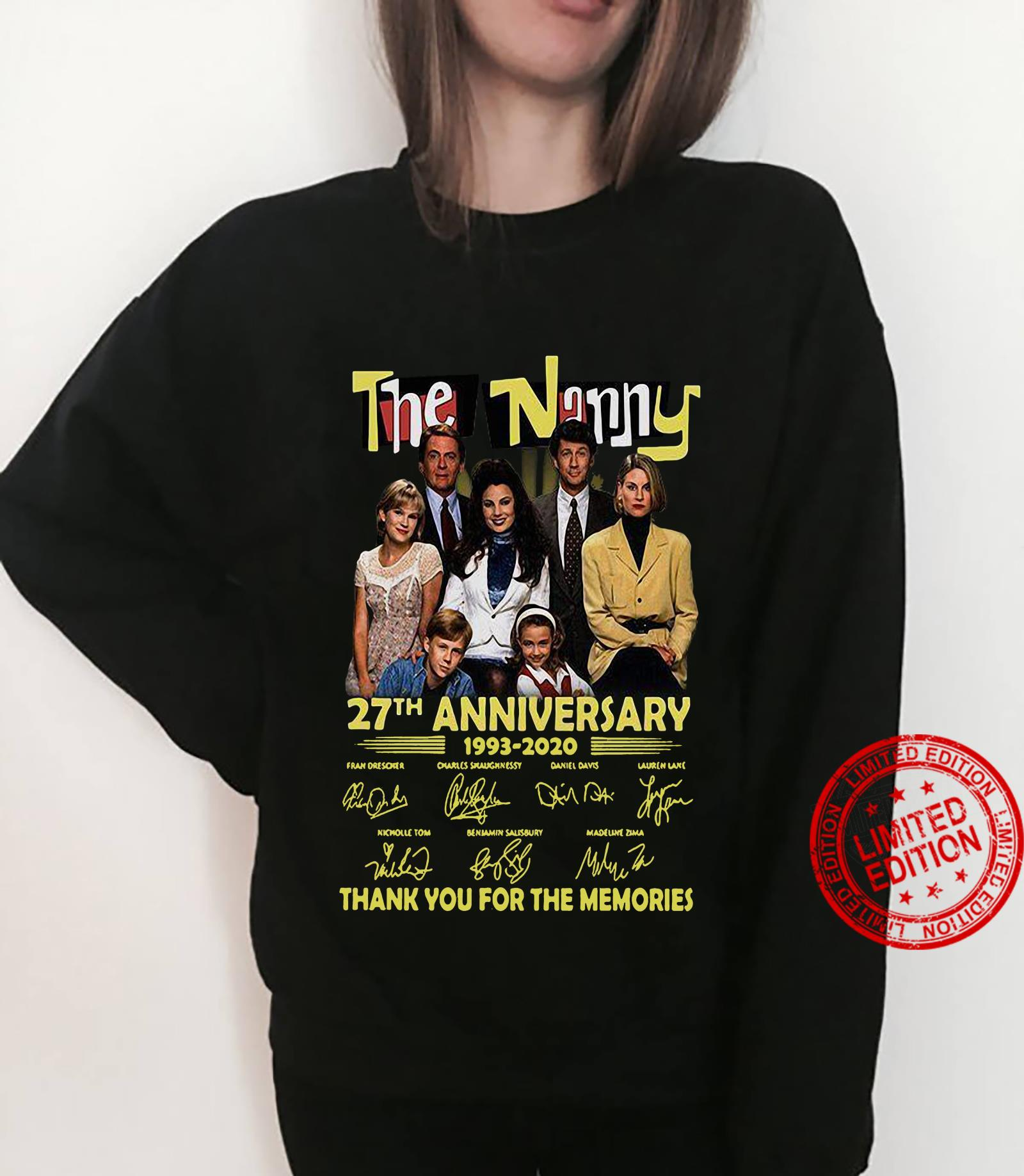 The Nanny 27th Anniversary 1993-2020 Thank You For The Memories Shirt sweater