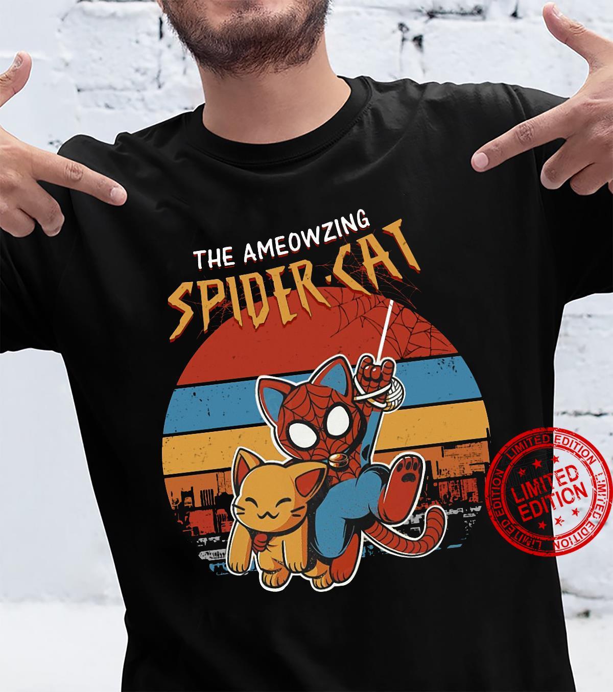 The ameowzing Spider cat shirt