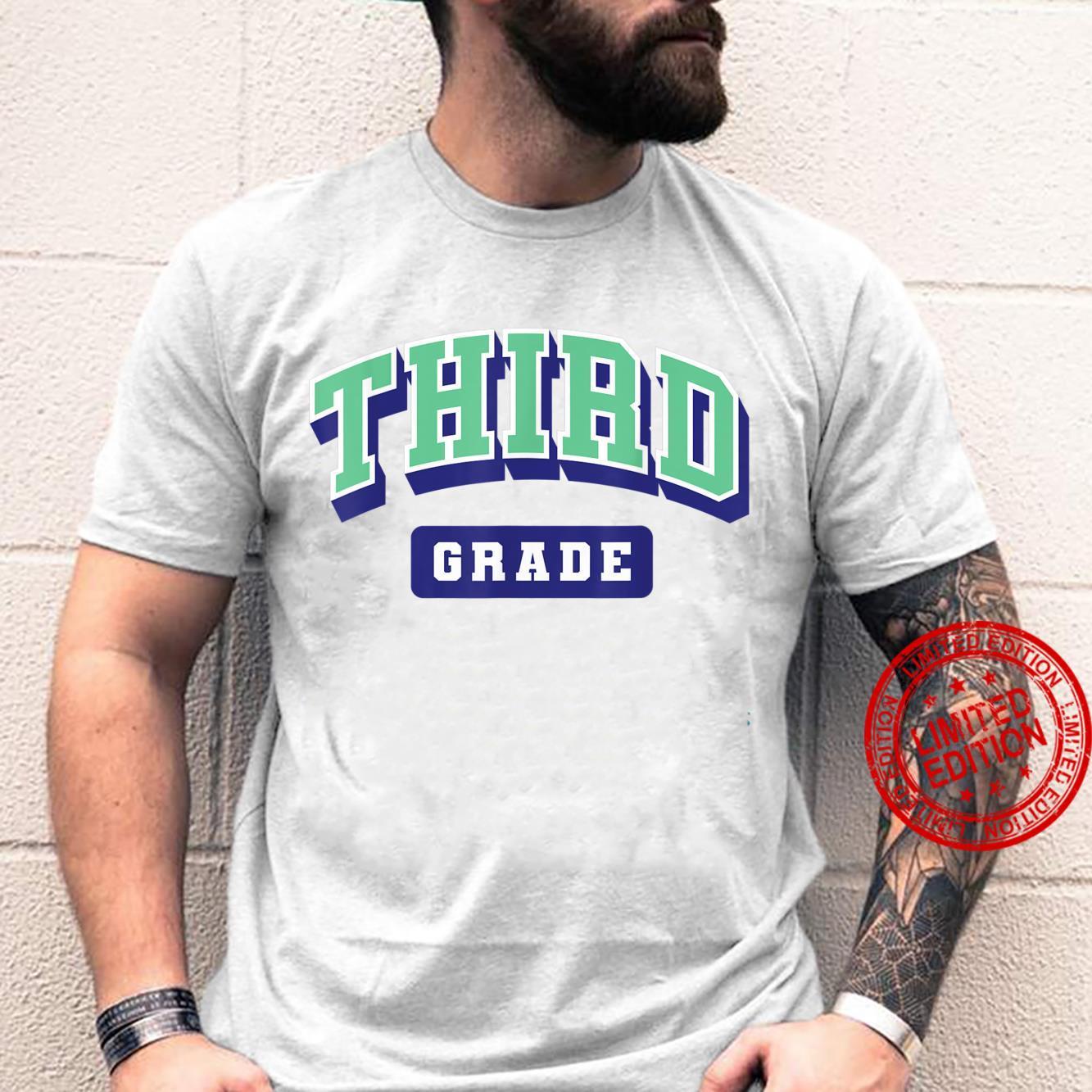 Third grade varsity shirt teacher first day of school Shirt