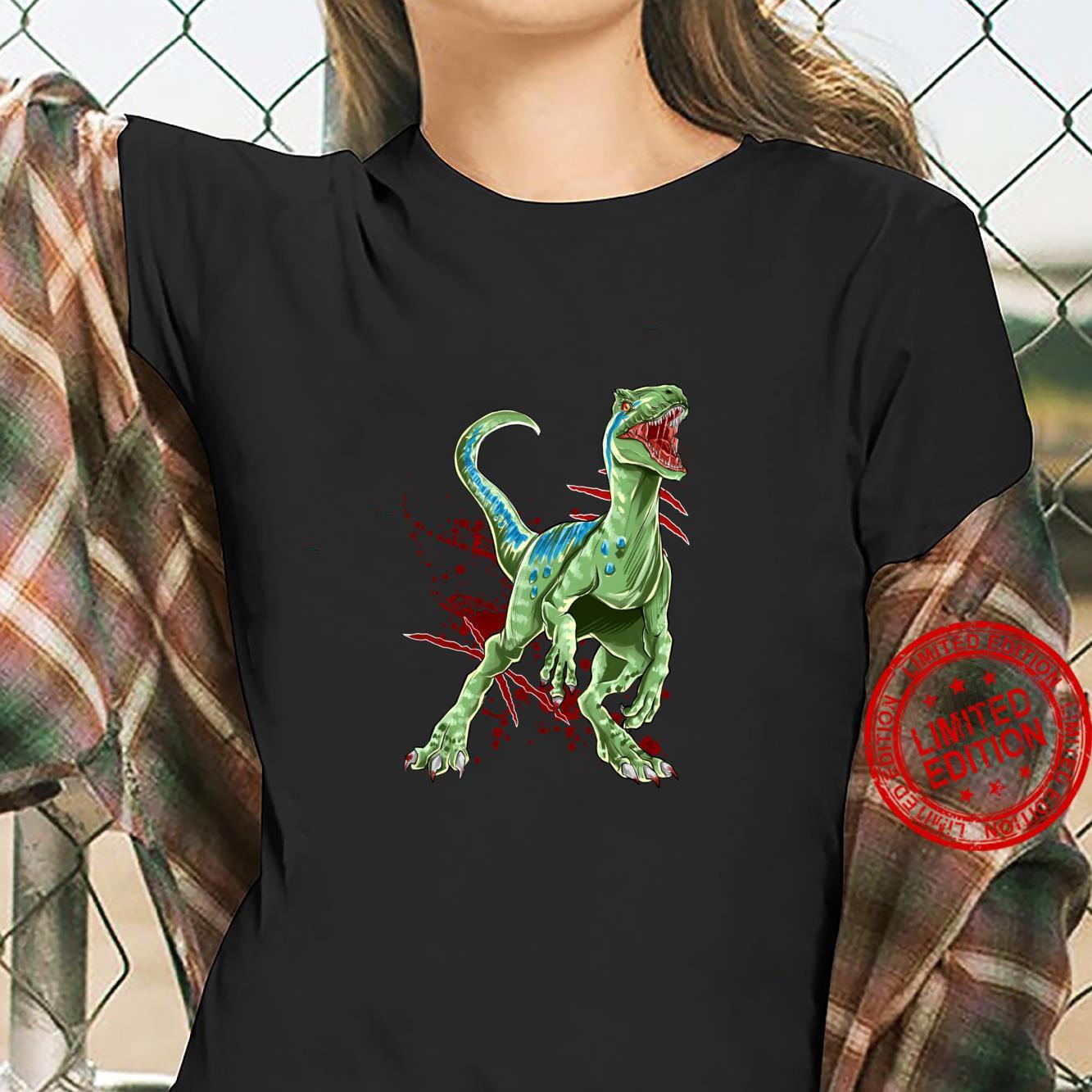 Velociraptor Raptor Saurier Urzeit Dinosaurier Dino Shirt ladies tee