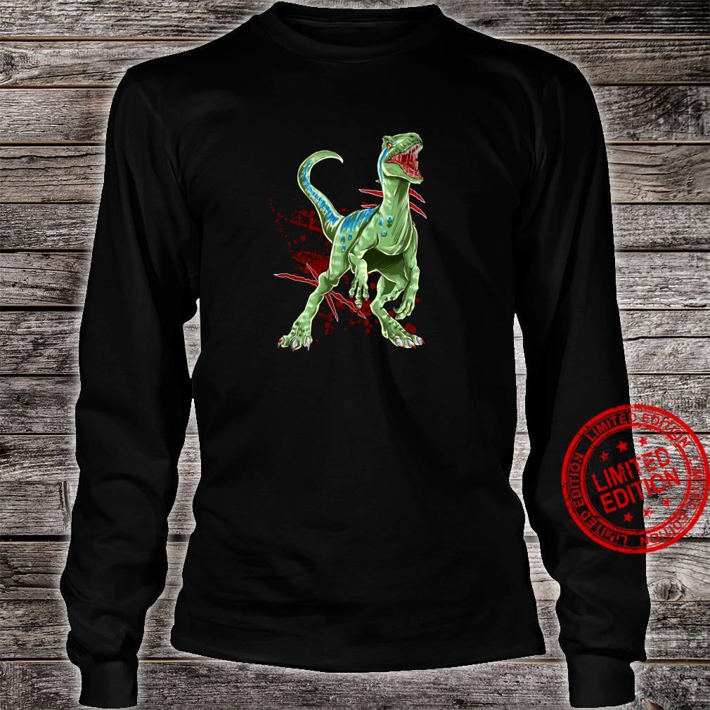 Velociraptor Raptor Saurier Urzeit Dinosaurier Dino Shirt long sleeved