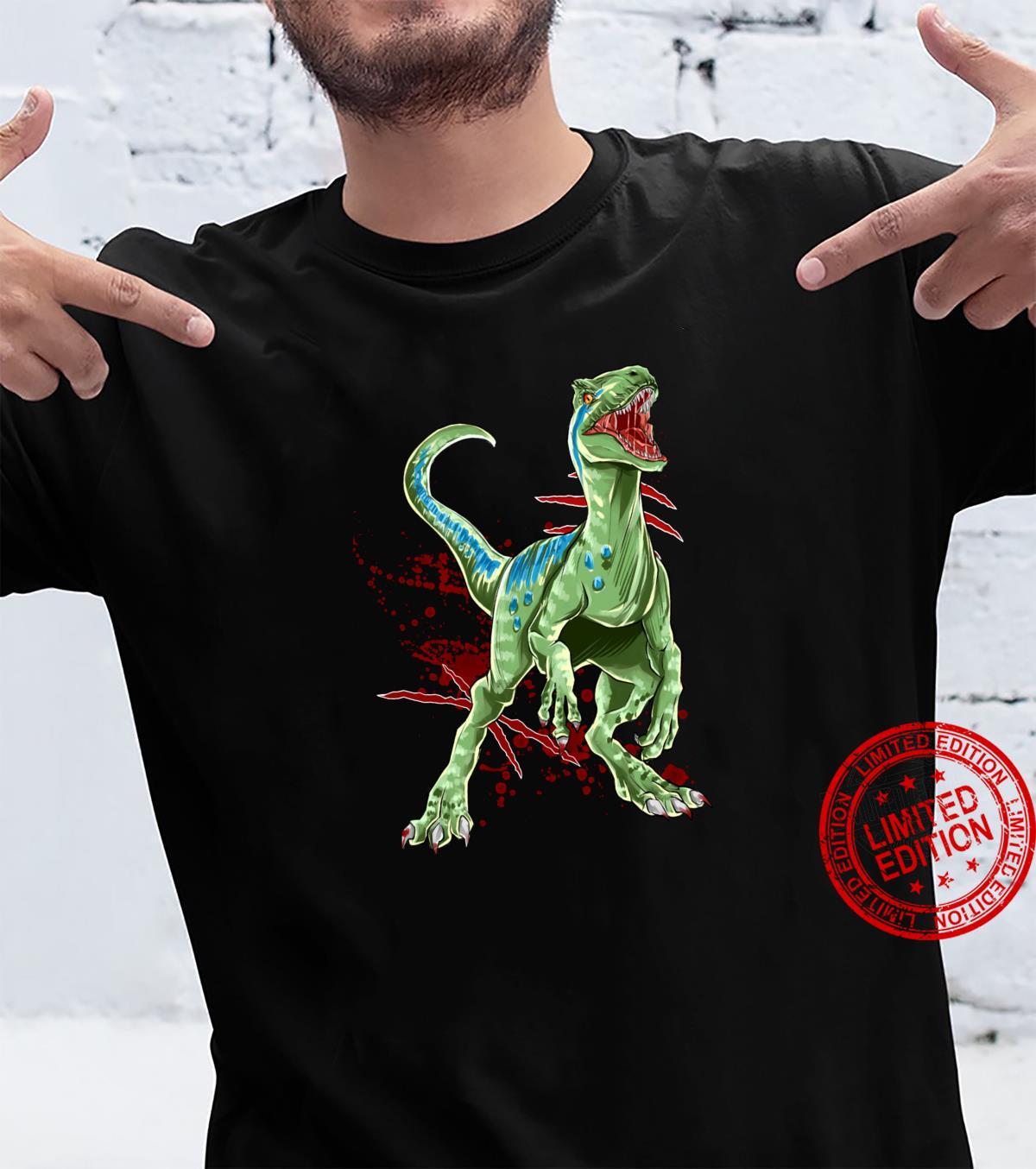 Velociraptor Raptor Saurier Urzeit Dinosaurier Dino Shirt