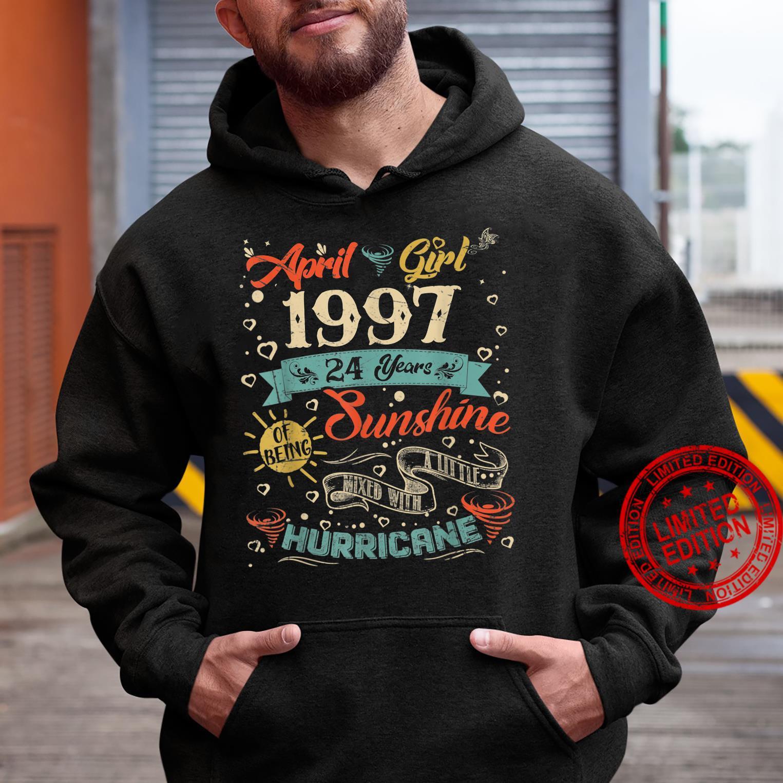 Vintage April Girl 1997 24 Years Old 24th Birthday Shirt hoodie