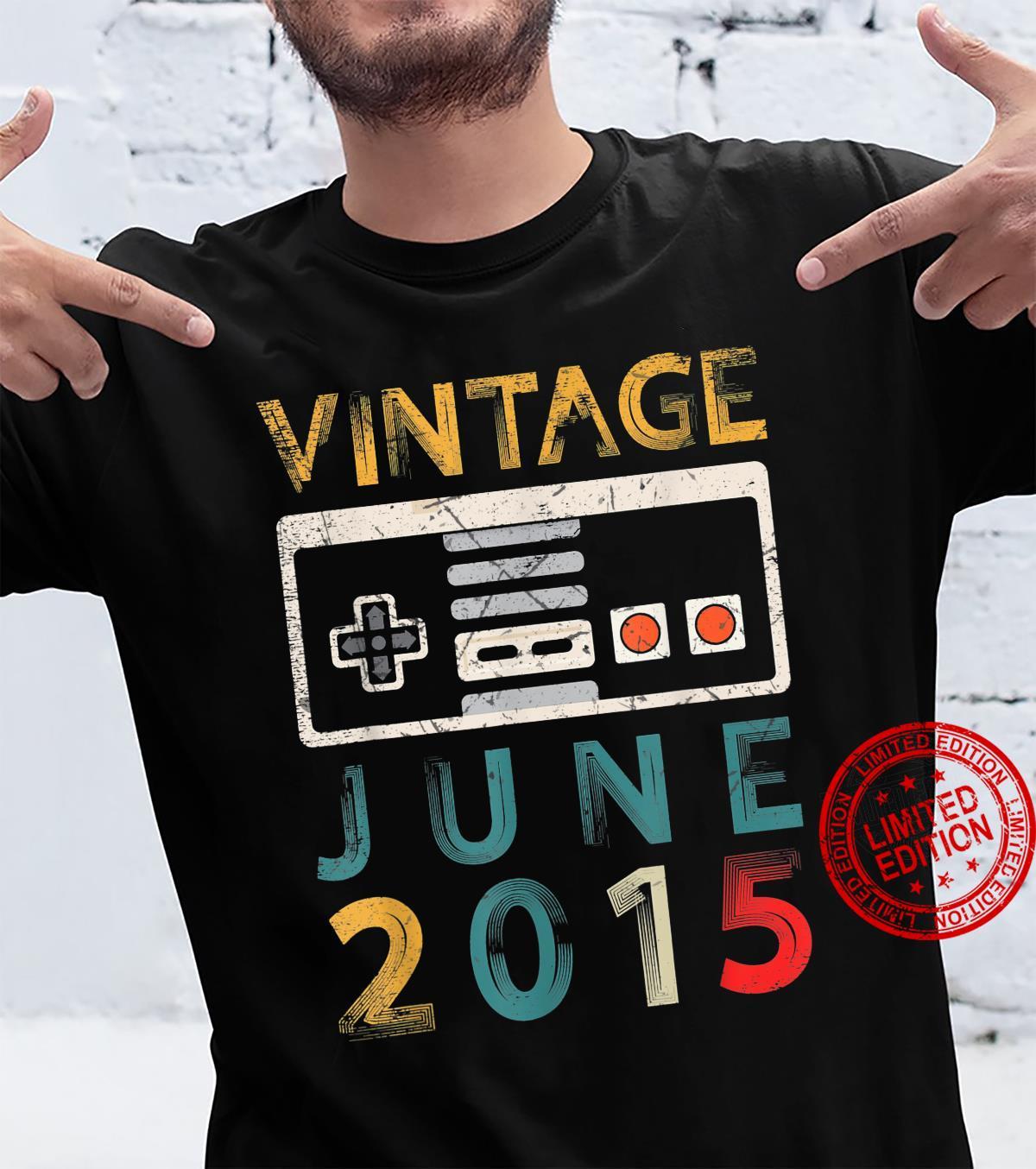 Vintage June 2015 6 Birthday Shirt 6 Year Old Gamer Shirt