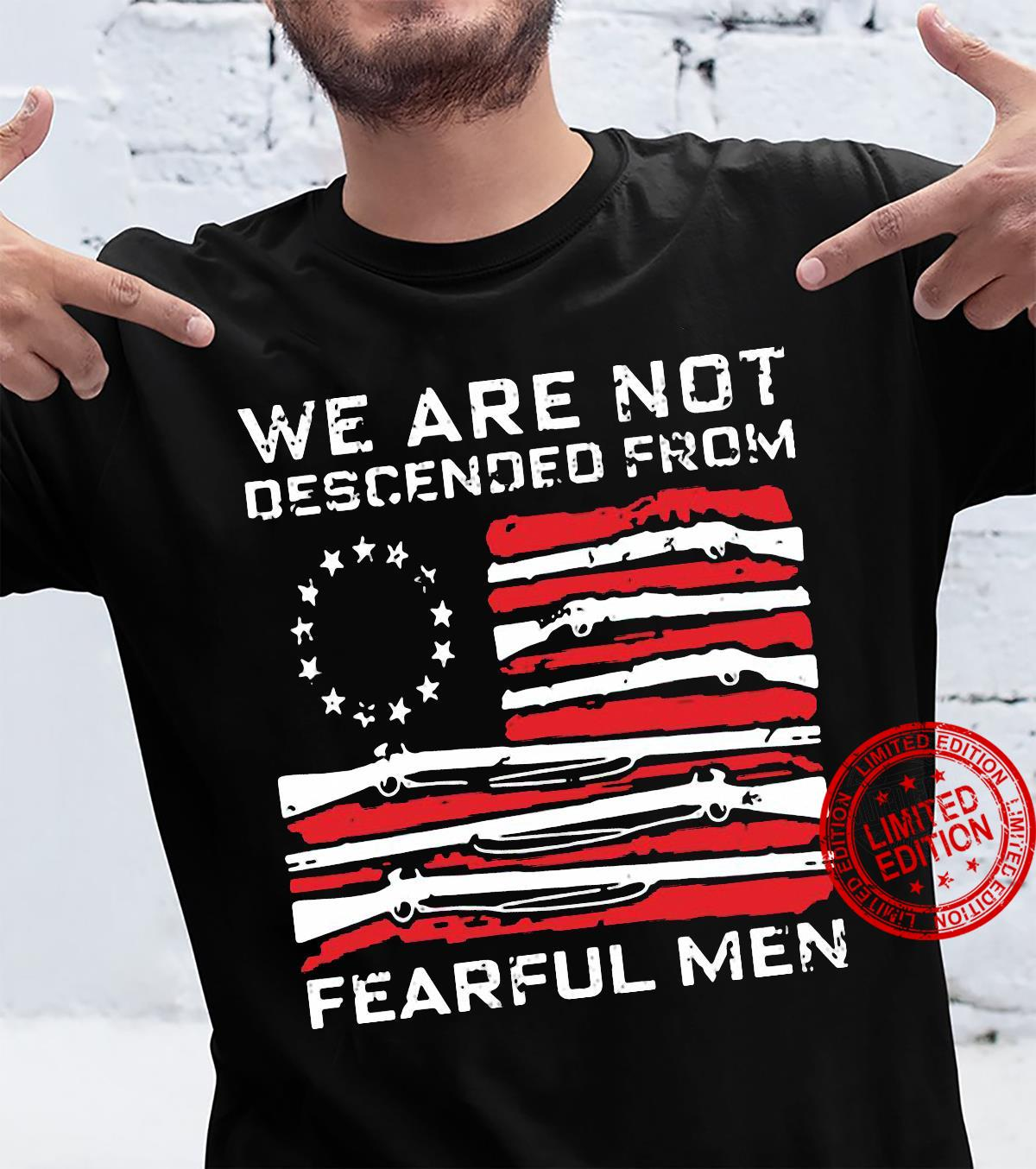 We are not descended from fearful men Men T-Shirt
