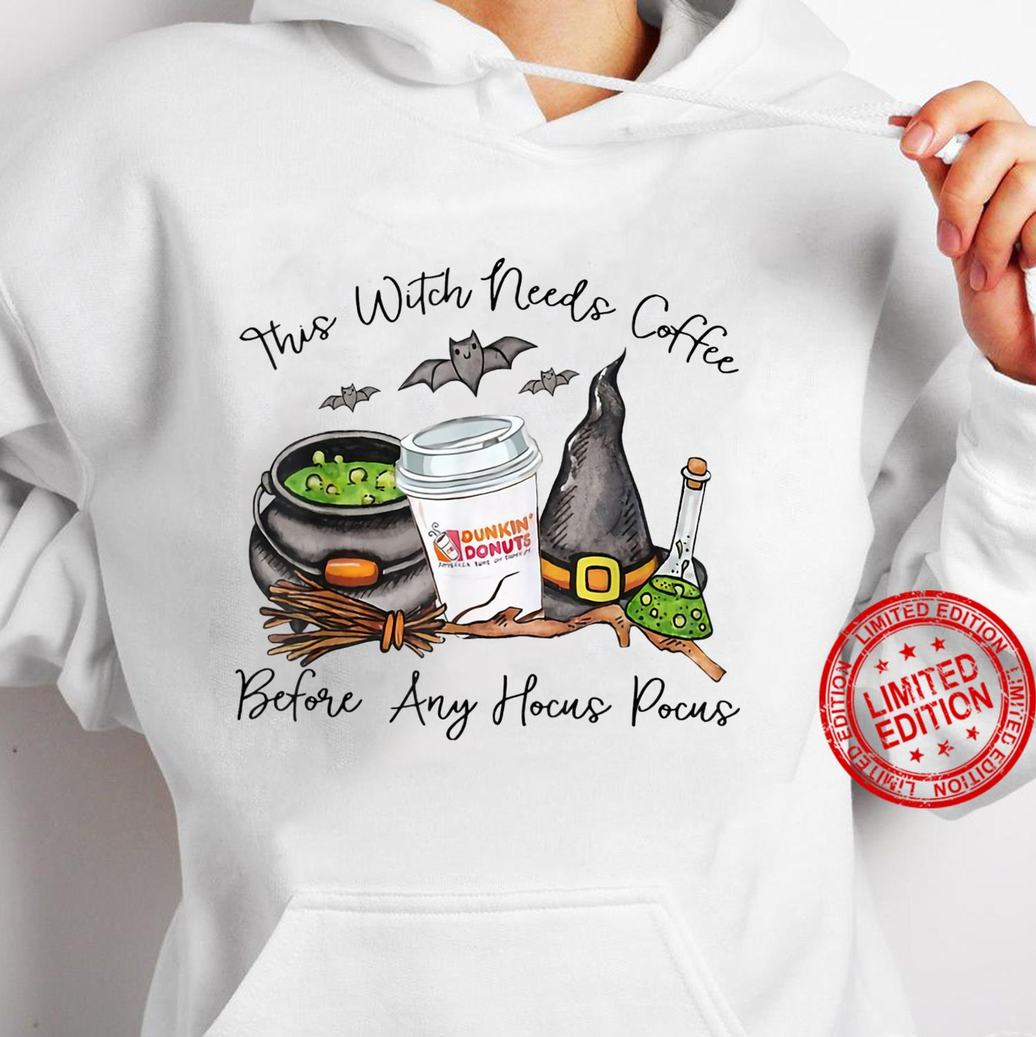 Witch Friends Love Coffee Halloween Shirt hoodie