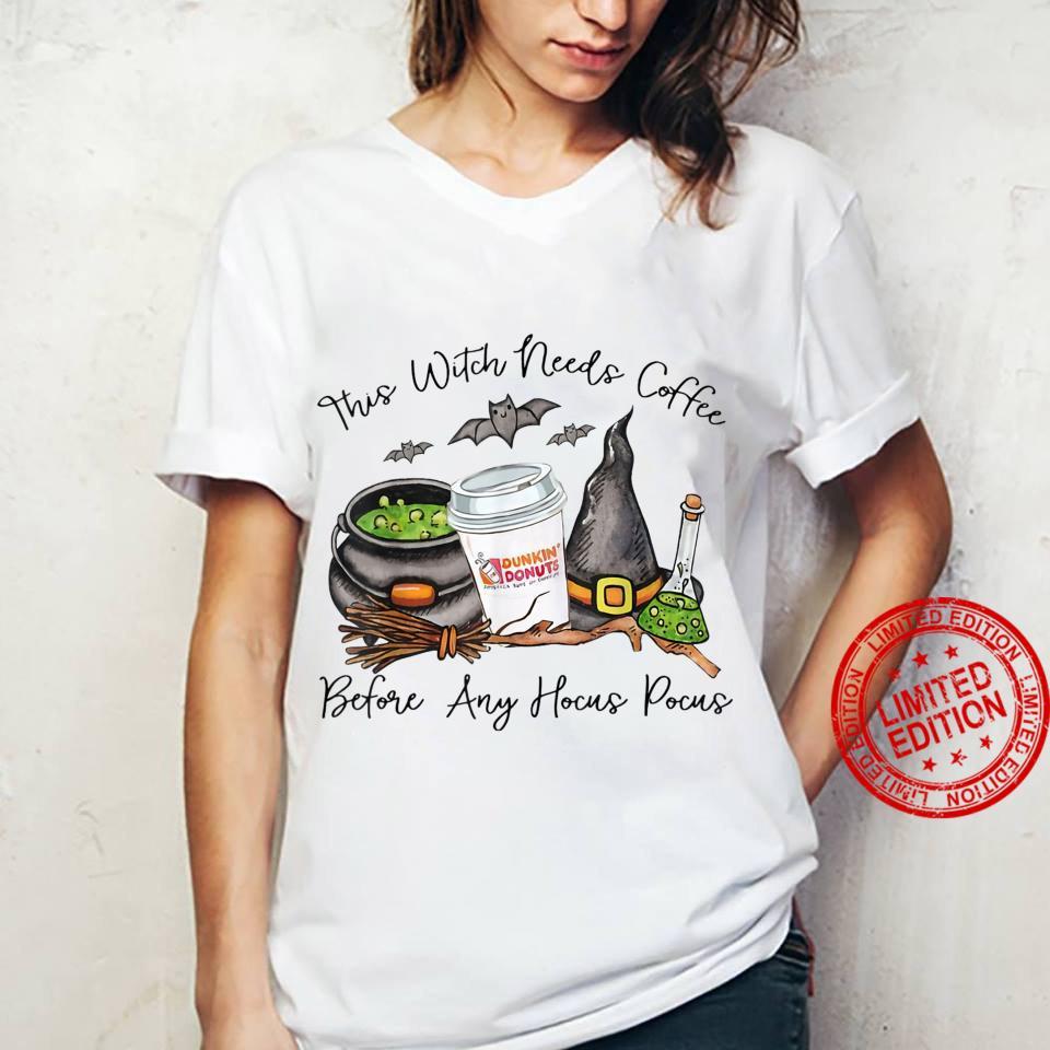 Witch Friends Love Coffee Halloween Shirt ladies tee