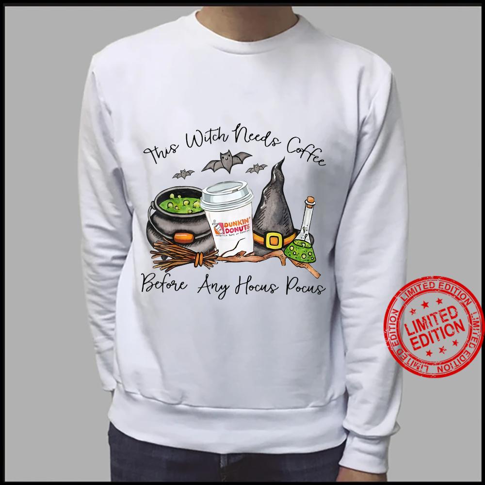 Witch Friends Love Coffee Halloween Shirt sweater